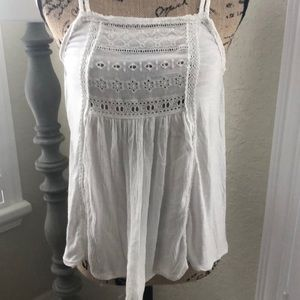 American eagle outfitters white tank top small